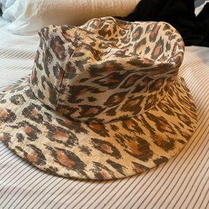 Urban outfitters leopard bucket hat